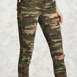 Camo Forever 21 jeans